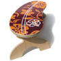 Red and Gold Hawaiian Surfbord Step Stool